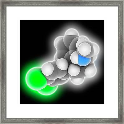 Sertraline Drug Molecule Framed Print by Laguna Design
