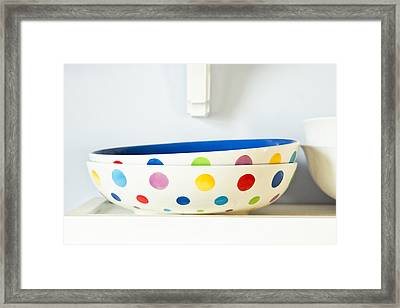 Serving Bowls Framed Print by Tom Gowanlock