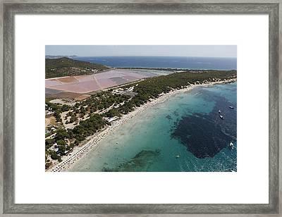 Ses Salines Beach And Salterns, Ibiza Framed Print by Xavier Durán
