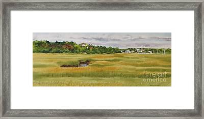 Sesuit Harbor Marshside Framed Print by Karol Wyckoff