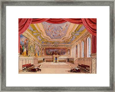 Set Design For The Merchant Of Venice Framed Print by English School