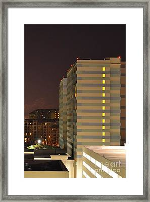 Set Lighting Framed Print by Darla Wood