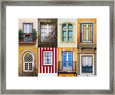 Set Of Windows Framed Print by Carlos Caetano