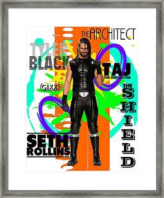 Seth Rollins Framed Print by Anibal Diaz