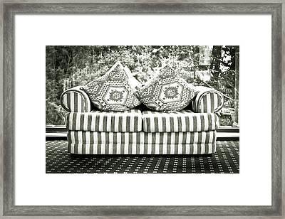 Settee Framed Print by Tom Gowanlock