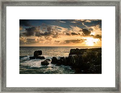 Setting Sun I Framed Print by Marco Oliveira