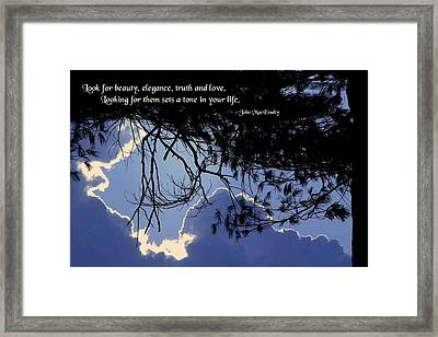 Setting The Tone Framed Print by Mike Flynn