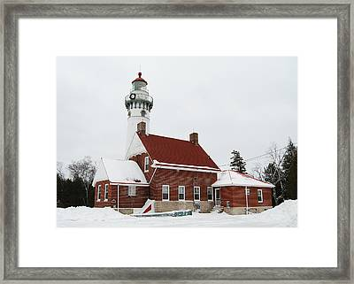 Seul Choix Point Lighthouse Framed Print by Michael Peychich