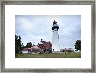 Seul Choix Point Lighthouse Framed Print by Randall Nyhof