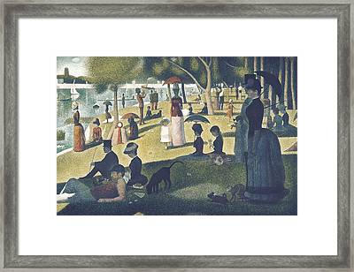 Seurat, Georges 1859-1891. A Sunday Framed Print by Everett