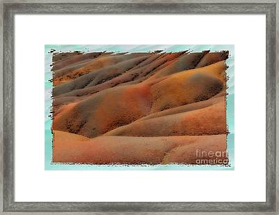 Seven Coloured Earths Framed Print by Juergen Ritterbach