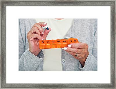 Seven Day Tablet Dispenser Framed Print by Lea Paterson