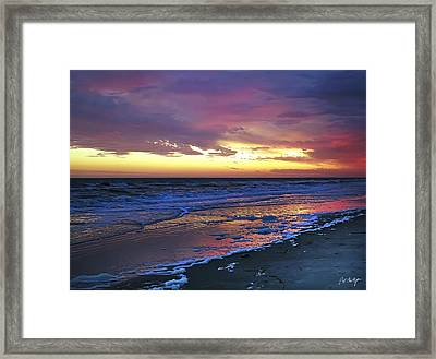 Seven Minutes On The Beach Framed Print by Phill Doherty