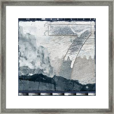 Seven On Blue Framed Print by Carol Leigh