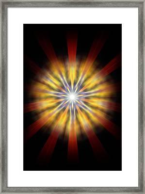 Seven Sistars Of Light Framed Print by Derek Gedney