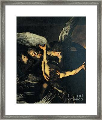 Seven Works Of Mercy Framed Print by Caravaggio