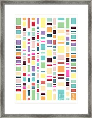 Seventeen Pattern Light Framed Print by Freshinkstain