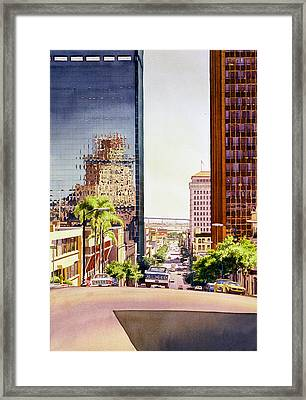Seventh Avenue In San Diego Framed Print by Mary Helmreich