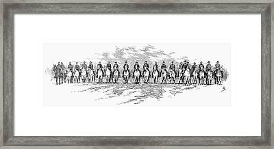 Seventh Cavalry, 1891 Framed Print by Granger