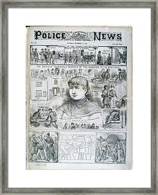 Seventh Ripper Murder Framed Print by British Library