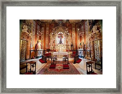 Seville Cathedral Interior In Spain Framed Print by Artur Bogacki