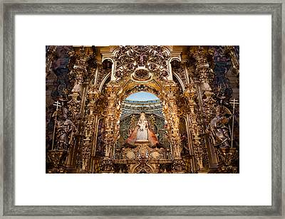 Seville Cathedral Reredos Framed Print by Artur Bogacki