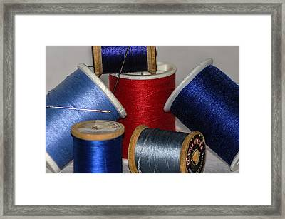 Sew With Me Framed Print by Camille Lopez