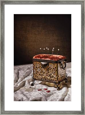 Sewing Box  Framed Print by Amanda And Christopher Elwell