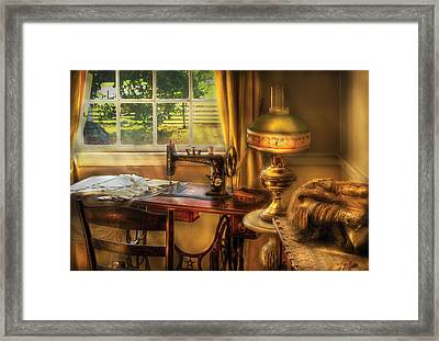 Sewing Machine - Domestic Sewing Machine Framed Print by Mike Savad