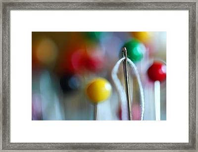 Sewing Framed Print by Michael Eingle