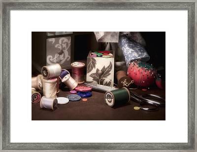 Sewing Notions II Framed Print by Tom Mc Nemar