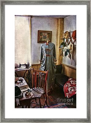 Sewing Room 1 Framed Print by Cindi Ressler