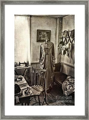 Sewing Room 2 Framed Print by Cindi Ressler