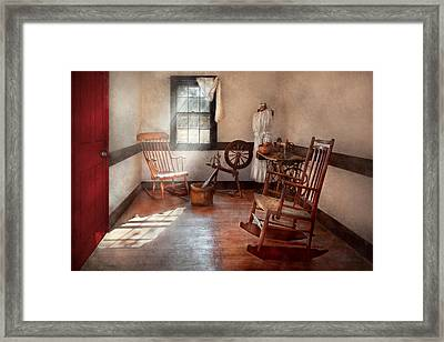 Sewing - Room - Grandma's Sewing Room Framed Print by Mike Savad