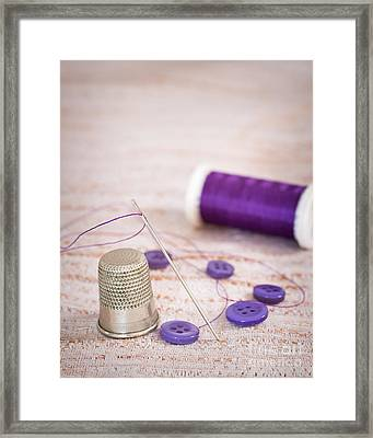 Sewing Thimble Framed Print by Amanda Elwell