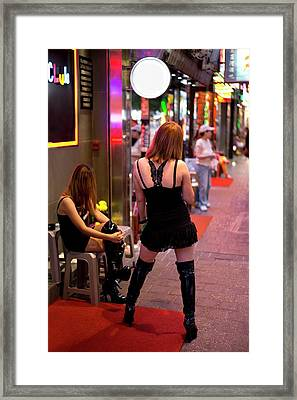 Sex Workers In Hong Kong Framed Print by Tony Camacho