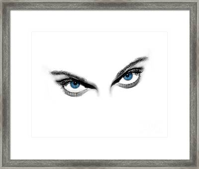 Sexy Blue Eyes  Framed Print by Jt PhotoDesign