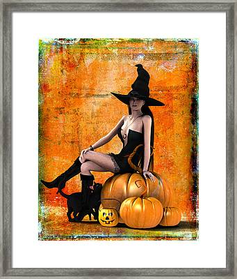 Sexy Halloween Framed Print by Frederico Borges