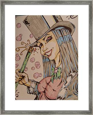 Sexy Hatter Framed Print by Michael Toth