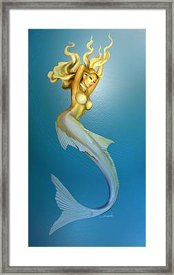 Sexy Mermaid By Spano Framed Print by Michael Spano