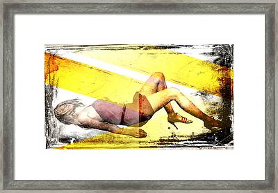 Sexy Woman Framed Print by David Ridley