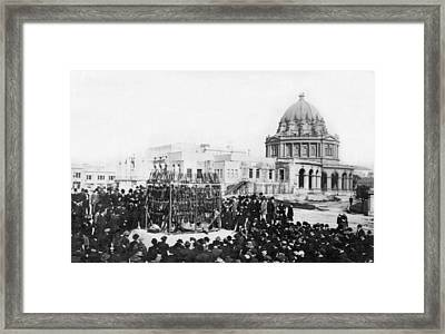 Sf Opium Burning Framed Print by Underwood Archives