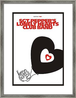 Sgt. Pepper's Lonely Hearts Club Band Framed Print by Urilla Art