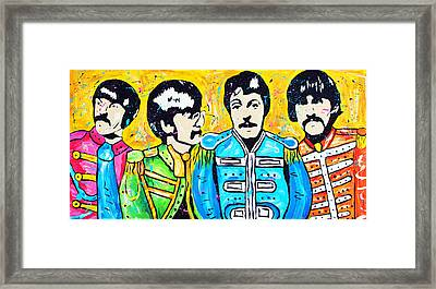 Sgt. Pepper's Lonely Hearts Club Framed Print by Tara Richelle