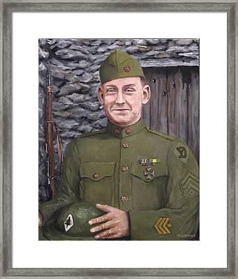 Sgt Sam Avery Framed Print by Jack Skinner