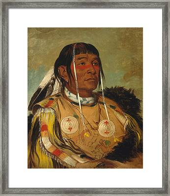 Sha-co-pay. The Six. Chief Of The Plains Ojibwa Framed Print by George Catlin