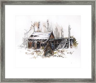 Shack Framed Print by Aaron Spong
