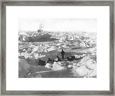 Shackleton's Antarctic Venture Framed Print by Underwood Archives