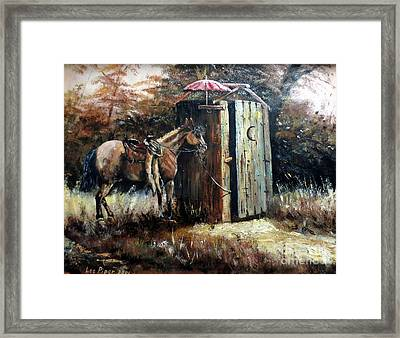 Shade For My Horse Framed Print by Lee Piper