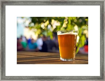 Shaded Amber Framed Print by Noel Marcantel